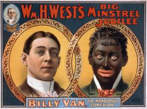 Original poster of Billy Van in Blackface