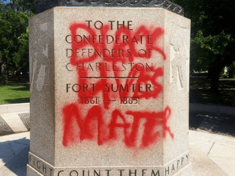 charleston-sc-confederate-monument-vandalized-black-lives-matter-AP