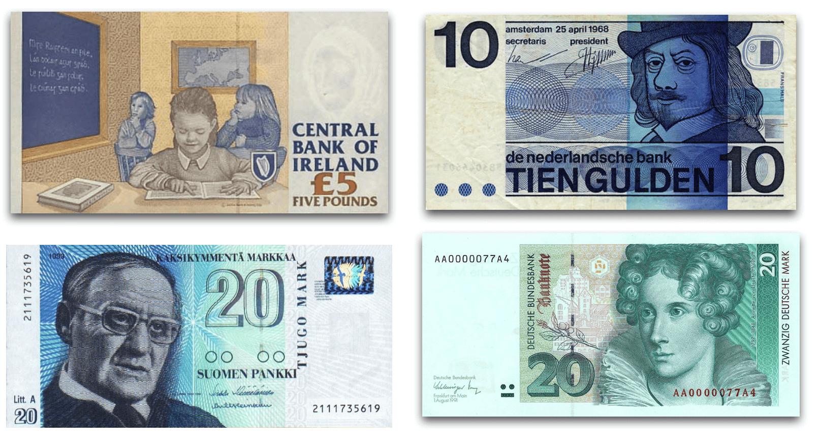 Valutabiljetten Noord-Europese Landen