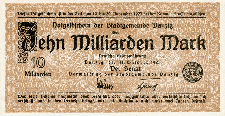 10 Miljard Duitse Mark Biljet