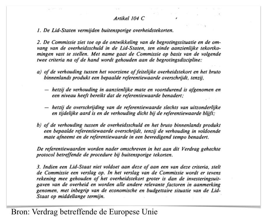 Artikel 104 C Vedrag betreffende de Europese Unie