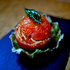 hobnobmag pasta stuffed tomato