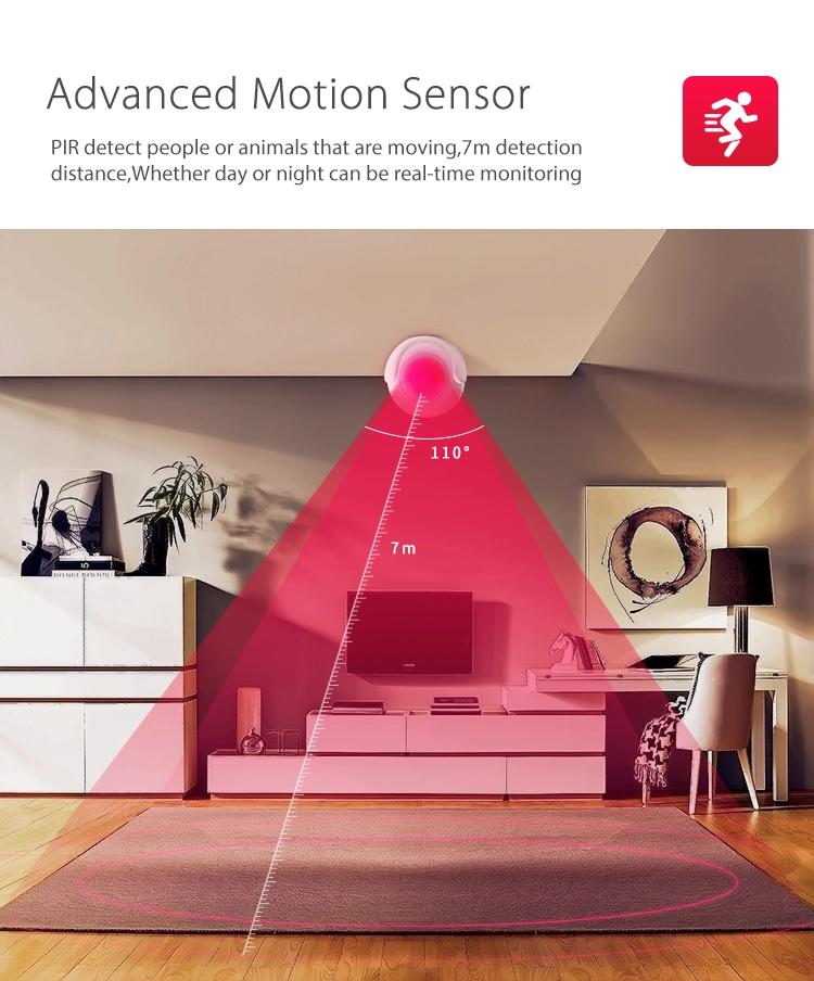 Smart Home Tuya App Wireless PIR Motion Sensor WiFi Smart Detector Alarm
