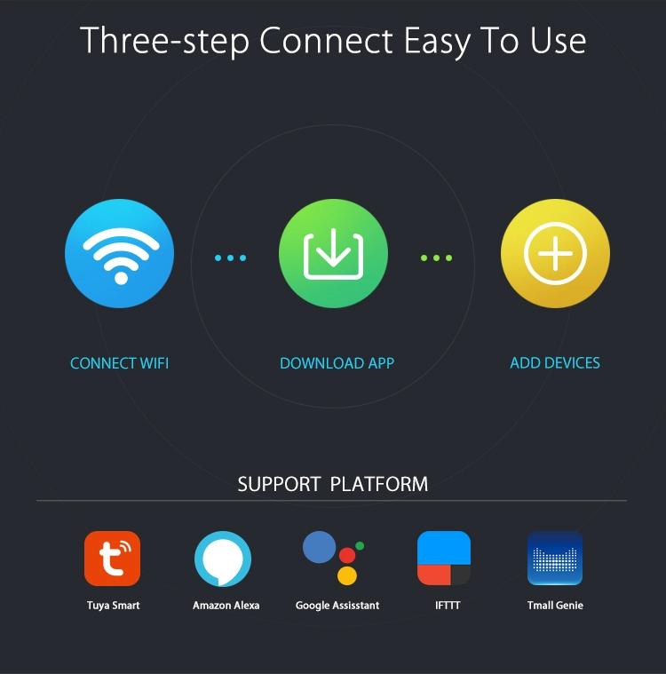Smart Home Tuya App Wireless WiFi Alarm Siren Works with Sensors