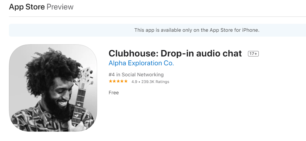 Clubhouse l'app social disponibile per ios