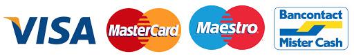Visa - Mastercard - Maestro - Bancontact