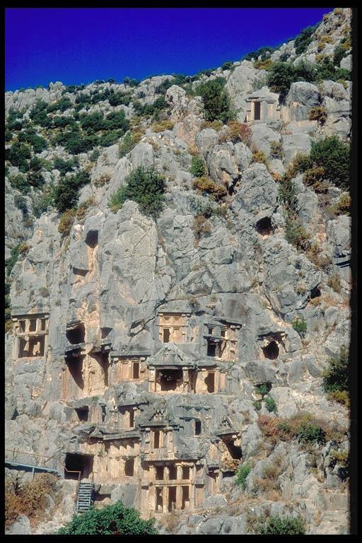 Antalya (turquie). Tombeaux Lydiens.