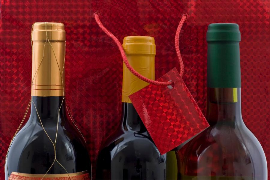 Un assortiment de vin à offrir en cadeau