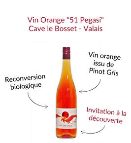 Vin Orange Pegasi 51 pinot gris cave le bosset leytron