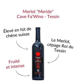Merlot Meride du Tessin cantina Fawino