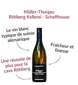 Le Muller Thurgau de la cave coopérative Rotiberg Kellerei Schaffhouse