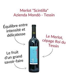 Le Merlot tessinois de l'azienda mondo scintilla giorgio rossi