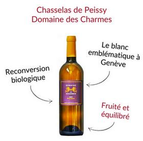 Chasselas de Genève Peissy Domaine des Charmes vin blanc