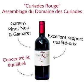 Curiades Rouge assemblage gamay pinot noir gamaret domaine des Curiades Geneve vin rouge