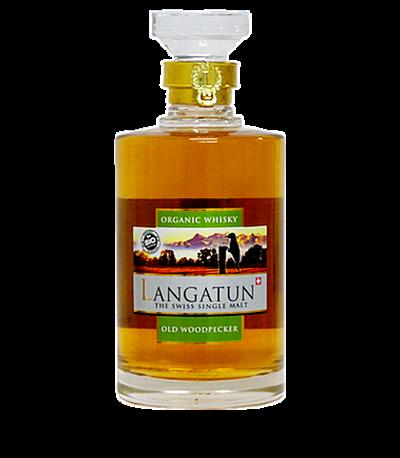bouteille langatun Old woodpecker whisky bio single malt