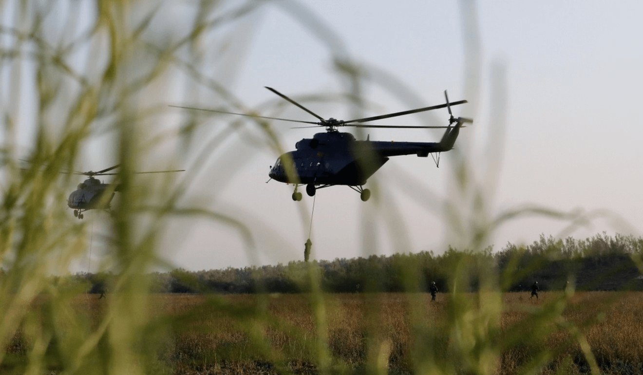 The recent exercise tested aerial surveillance techniques. Photo: Xinhua