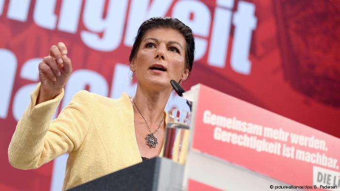 Deutschland, Leipzig: Sahra Wagenknecht beim Bundesparteitag der Partei Die Linke (picture-alliance/dpa/B. Pedersen)