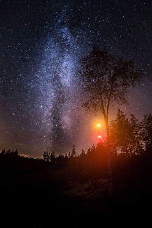 ربما تحتوي الصورة على: سماء، وليل، ونشاطات في أماكن مفتوحة وطبيعة