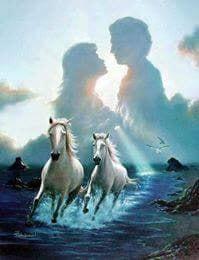ربما تحتوي الصورة على: حصان، وسماء ونشاطات في أماكن مفتوحة