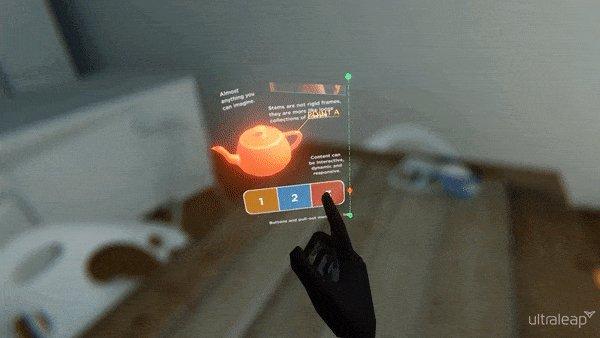 Ultraleap's STEM interface.