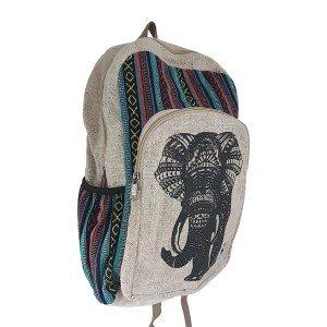 Hemp lucky elephant backpack