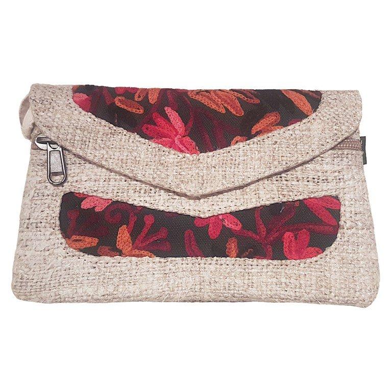 Hemp style clutch bag