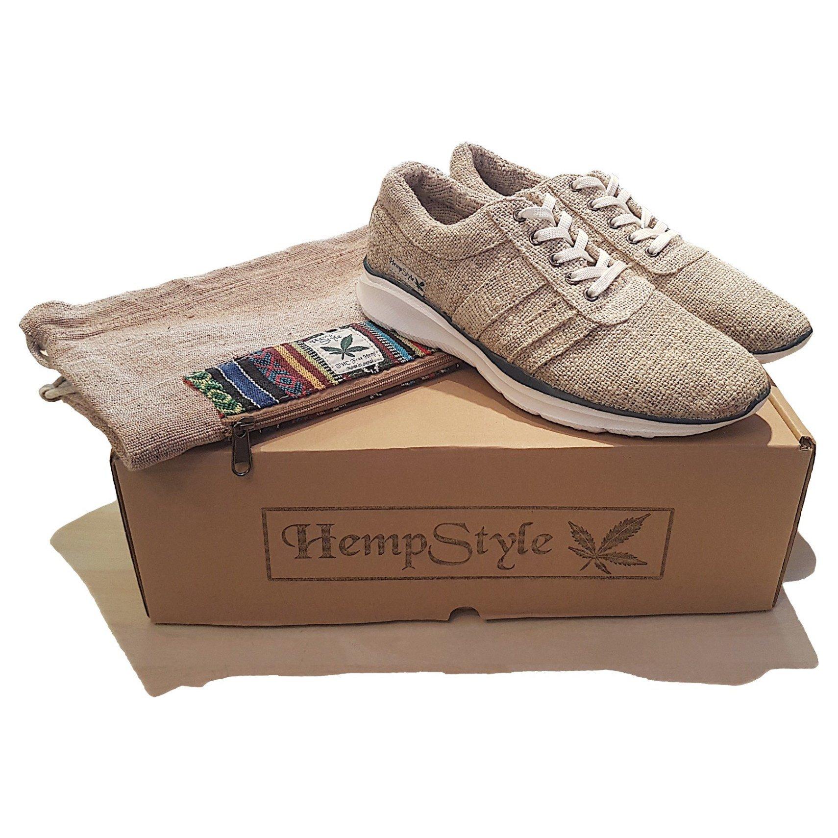 Hemp trainers Blue Stripe