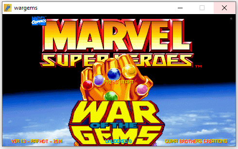 openbor console with marvel superheroes
