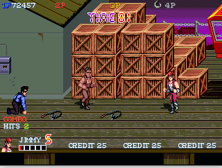 Double Dragon Gaiden fighting weapns