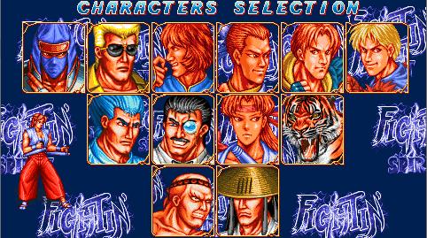 Fighting Spirit hero select