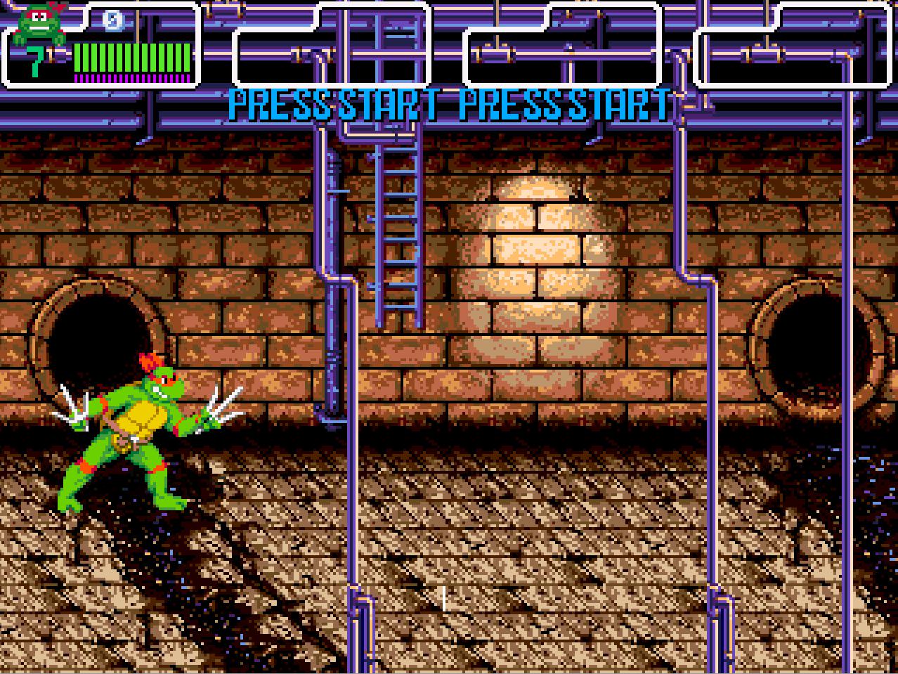 Raphael wanders the sewer