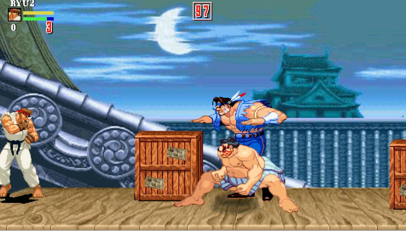 e.honda and Hawk fight Ryo