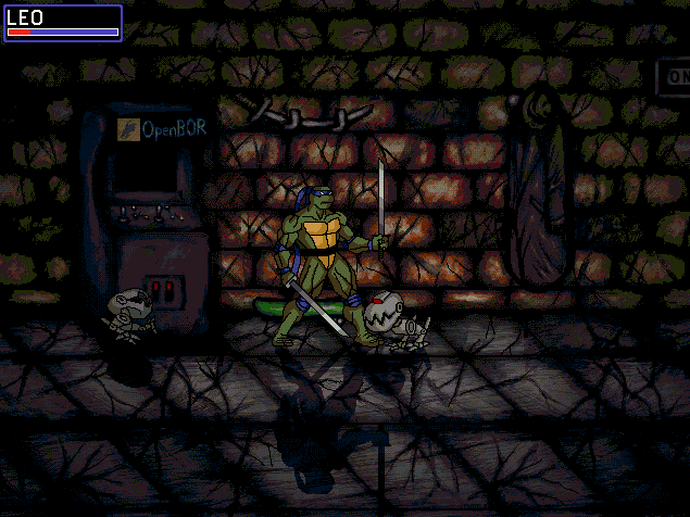 leonardo wanders through the sewers