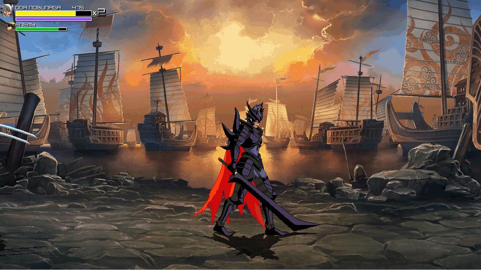 painting medieval battle Japan Oda Nobunaga