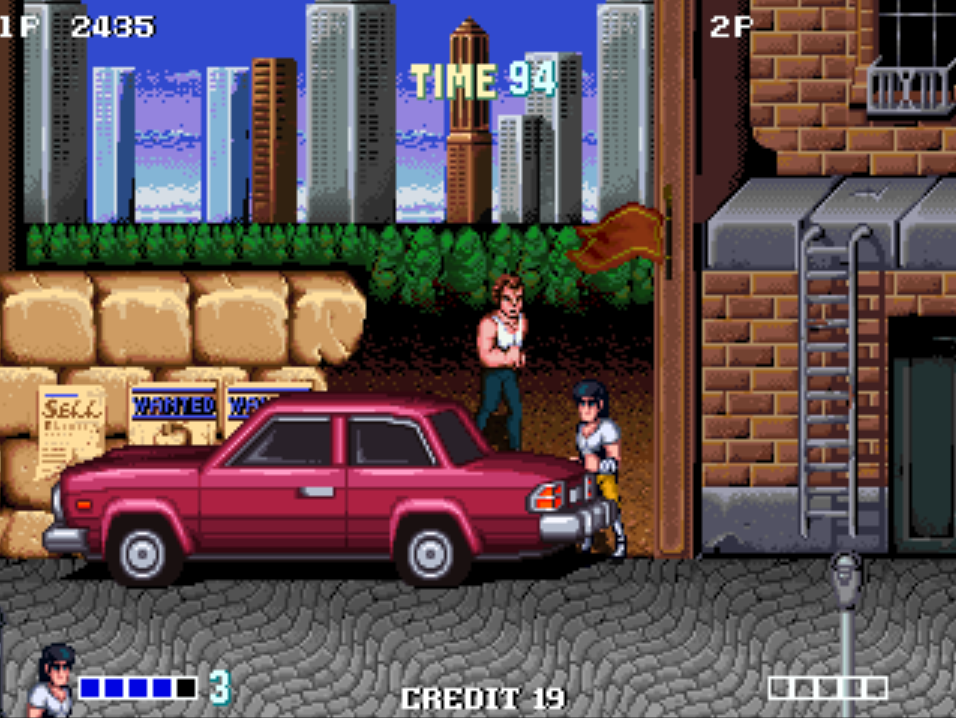 Double Dragon plus the red car battlers