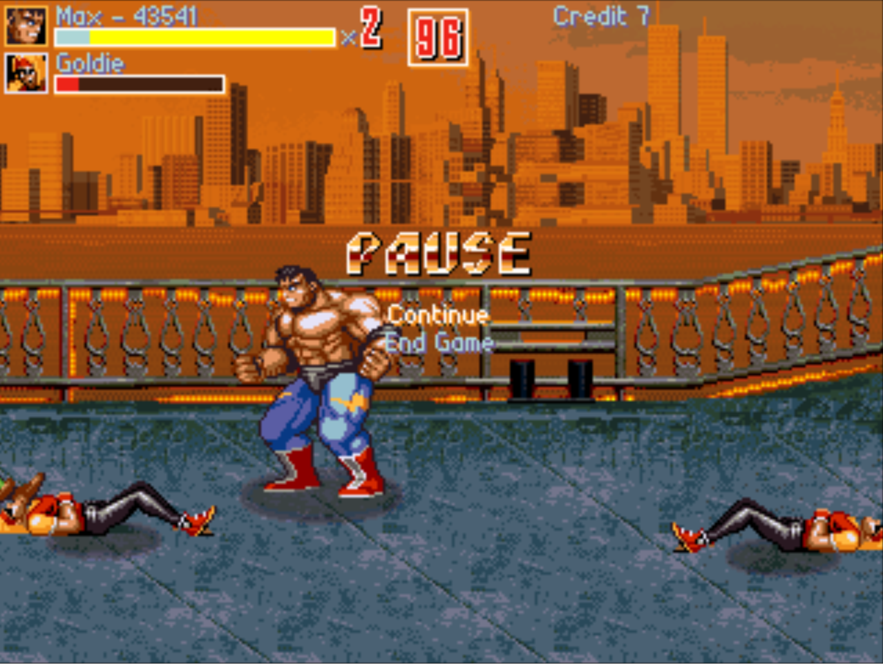 Streets Of Rage IV max fights in the town