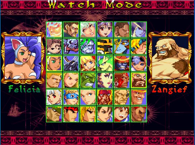 Darkstalkers vs. Street Fighter V4-download