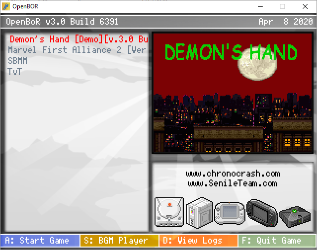 demon's hand mini pack
