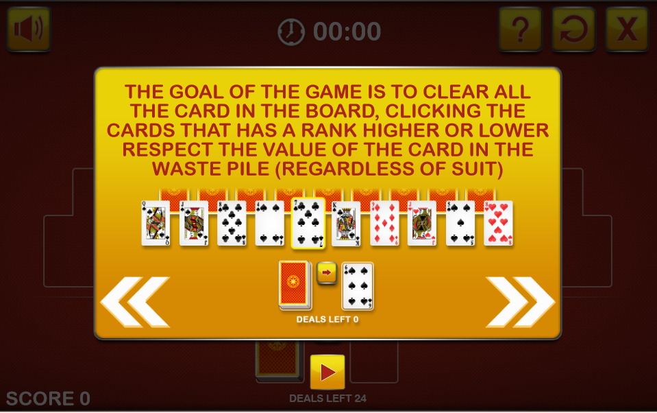 Tripeaks Solitaire free html5 game
