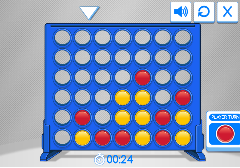 free game connect four. board