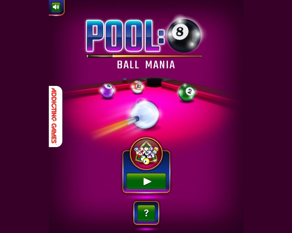 Pool: 8-Ball Mania html5 game