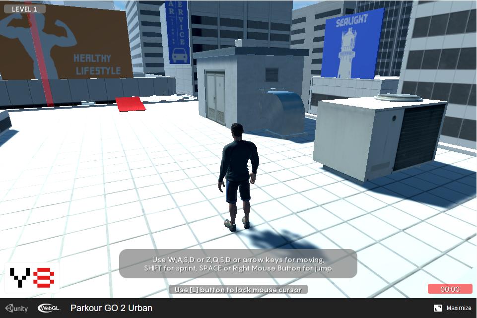 third person action parcour game - Parkour GO 2: Urban