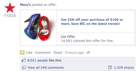 Macys offer