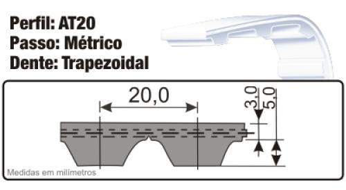 Correia Sincronizada de poliuretano AT20