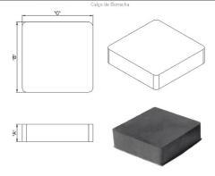 Desenho técnico do apoio de neoprene