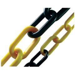 correntes plásticas zebrada para sinalização amarela e preta