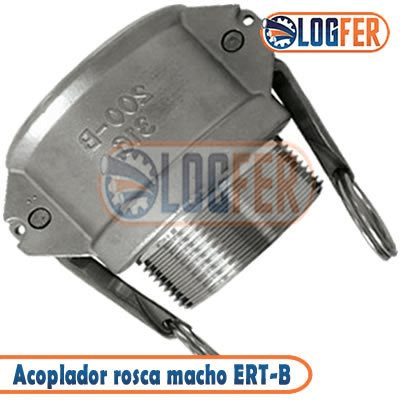 Engate rápido ERT-B acoplador rosca macho em inox