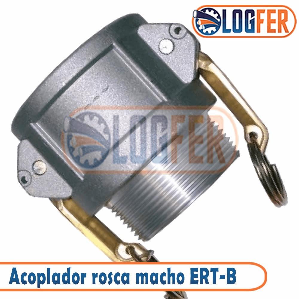 Engate rápido ERT-B acoplador rosca macho em aluminio