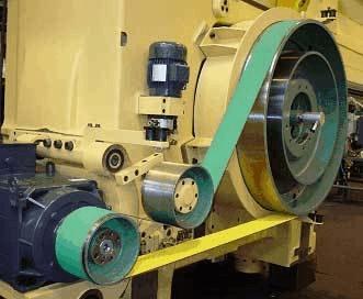 aplicação correia transmissão industrial