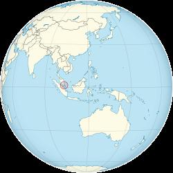 新加坡在全球的位置